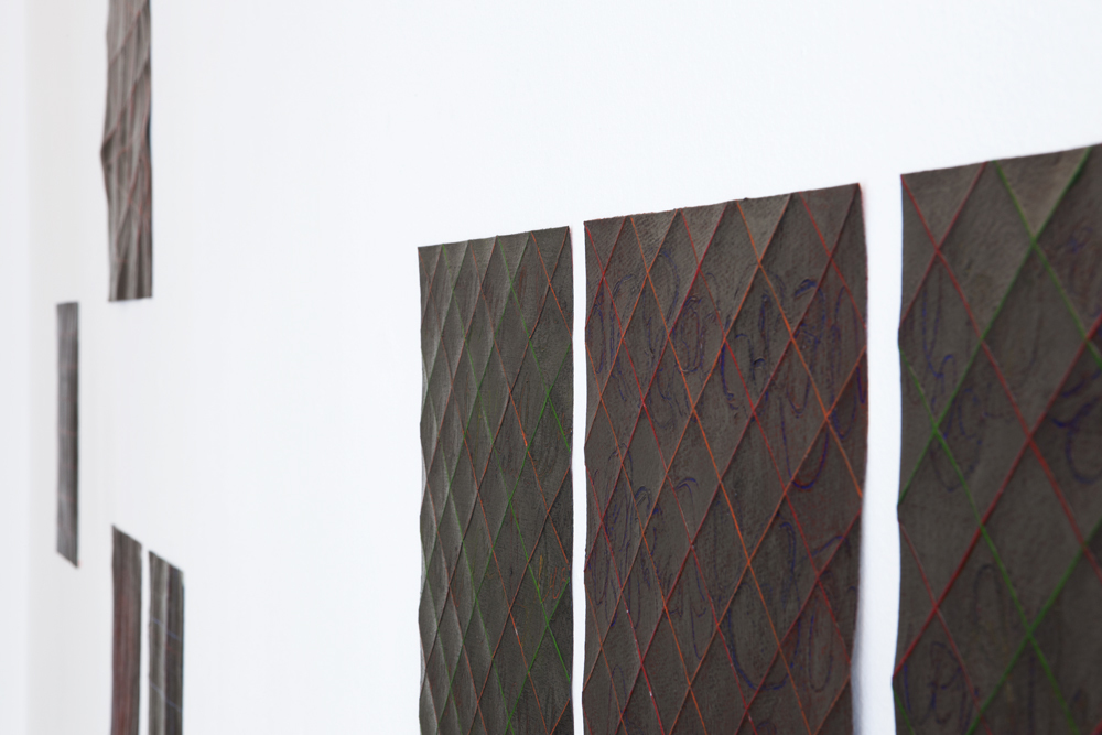 Other view of 'Folded Drawings / Faltzeichnungen' with smaller works; photo: gallery