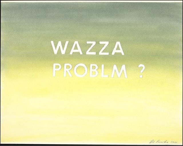 , 'Wazza Problm?,' 1981, Gagosian