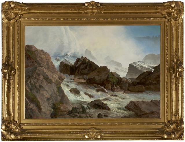 , 'View of Niagara Falls from Prospect Point,' ca. 1869, Debra Force Fine Art