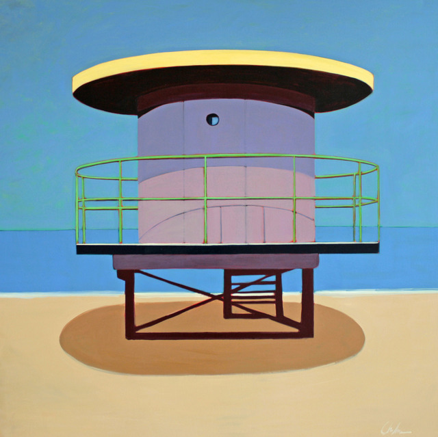 , 'Miami Lifeguard Station in Lavender,' 2016, Caldwell Snyder Gallery