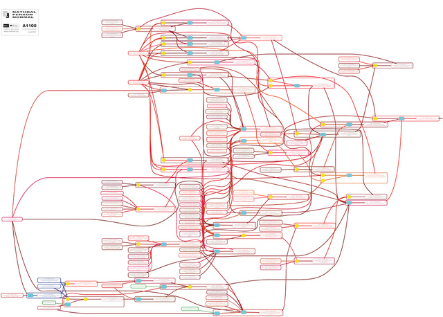 , 'a natural person normal colour flow chart of integrated logic,' 2014, Klowden Mann