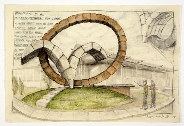 , 'Proposal 2, for HH Ellis High School (sketch for realized public art sculpture),' 2008, Khawam Gallery