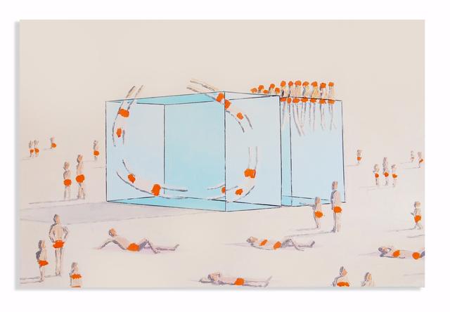 Eddie K., 'Pools U 67-68', 2020, Painting, Oil on canvas, Uprise Art