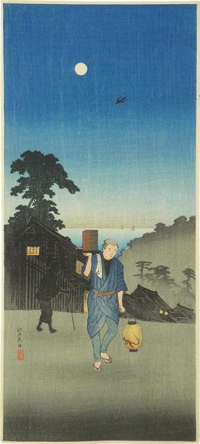 Hiroaki Takahashi (Shotei), 'Edo-view Hill', ca. 1924-27, Scholten Japanese Art