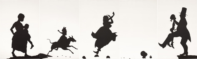 Kara Walker, 'A Means to An End... A Shadow Drama in Five Acts (L. P. p. 216, fig. 85)', 1995, Print, Etching and aquatint, on five sheets of Somerset paper, the full sheets., Phillips
