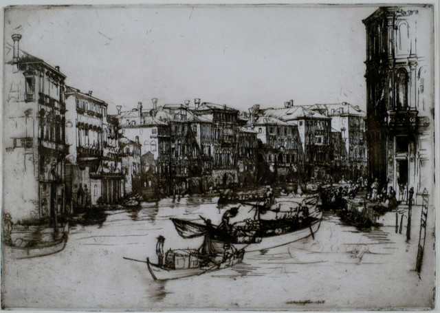 Donald Shaw MacLaughlan, 'Morning, Venice', 1908, Print, Etching, Private Collection, NY