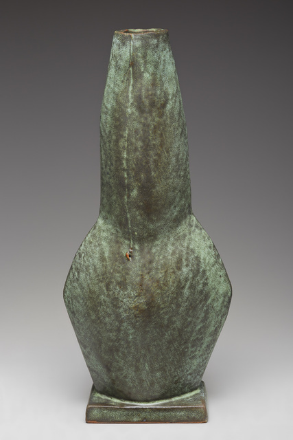 , 'Figurative vase, copper green glaze,' , Pucker Gallery