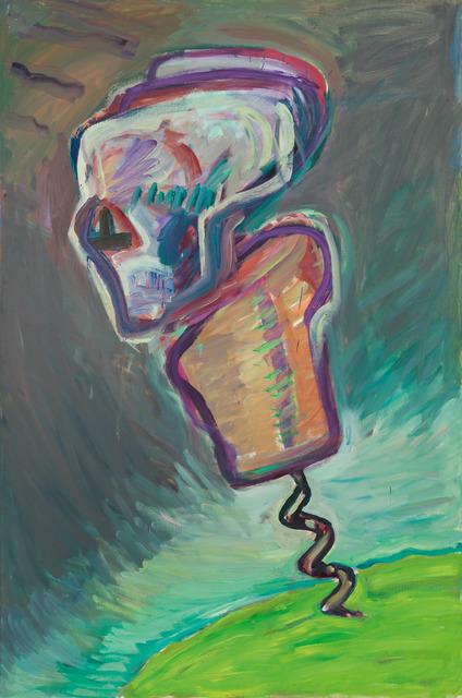 Maria Lassnig, 'Korkenziehermann (Tod)', 1986/1987, Painting, Oil on canvas, Galerie Kovacek & Zetter