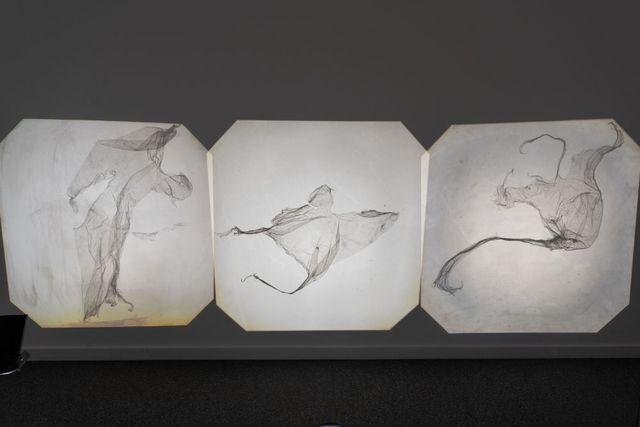 Michele Bressan, 'Overhead Projections', 2019, Video/Film/Animation, Plastic food wrap foil sculptures, overhead projectors, Art Encounters Foundation