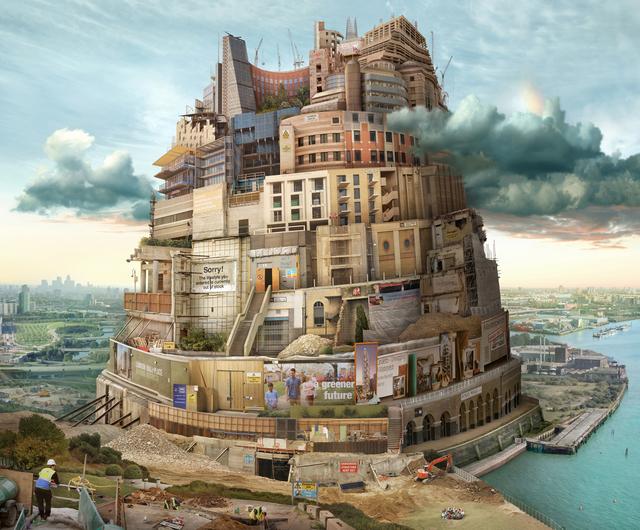 , 'London Babel (after Breugel),' 2015, GBS Fine Art