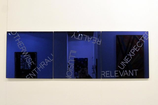, 'Blue Triptych,' 2012, Galleria Massimo Minini