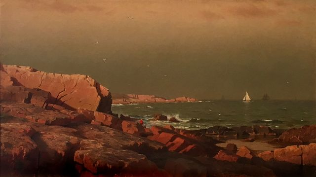 , 'Rocky Coast with Fisherman,' , Menconi+Schoelkopf
