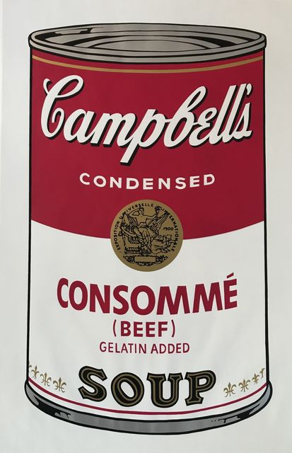 Andy Warhol, 'Soup Can l, Consomme' (Beef)', 1968, Print, Screenprint, Vertu Fine Art