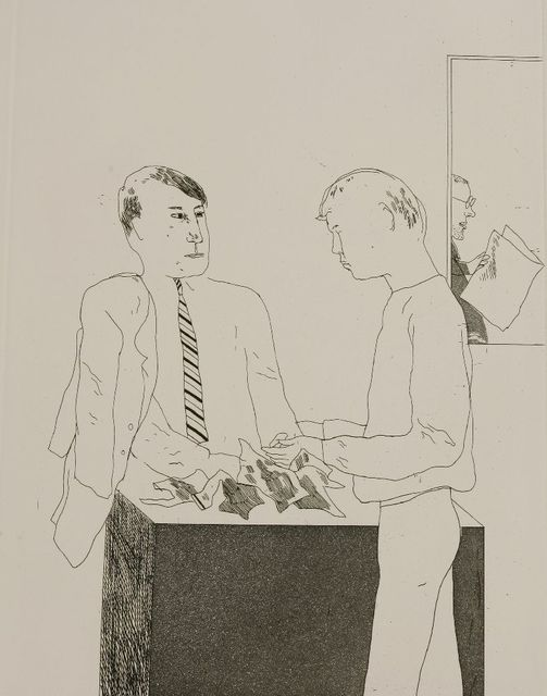 David Hockney, 'He Enquired After the Quality (Sac 55)', 1966, Sworders