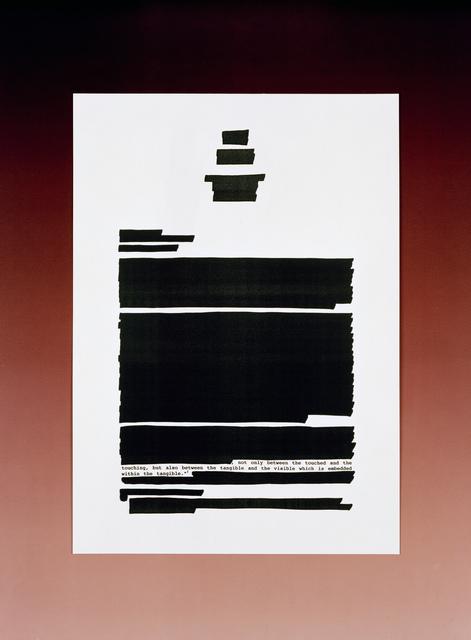 , 'Text 02,' 2015, Galerie Kleindienst