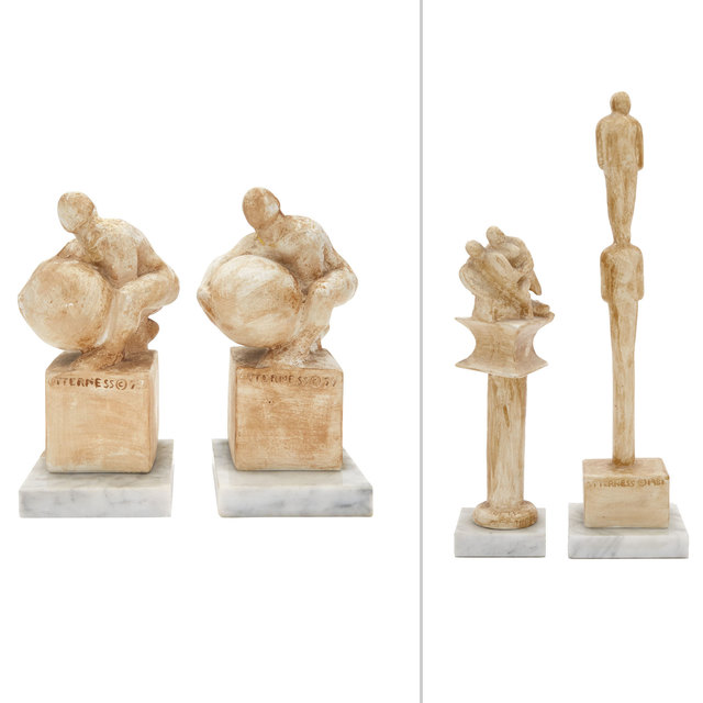 Tom Otterness, '(i) Man and Angel II (ii) Bookends (pair) (iii) Stacked Men', 1981, Design/Decorative Art, Doyle
