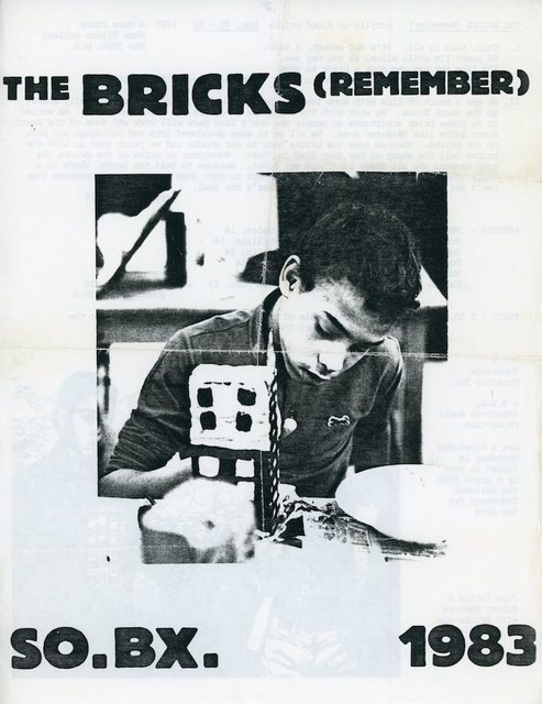 , 'A More Store, Tim Rollins and K.O.S., The Bricks (Remember), Flyer,' 1983, James Fuentes