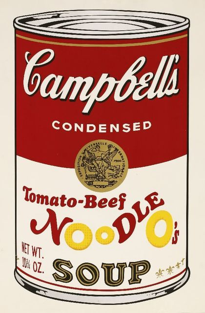 Andy Warhol, 'Tomato-Beef Noodle O's, From Campbell's Soup II (F.&S. II.61)', 1969, Sworders