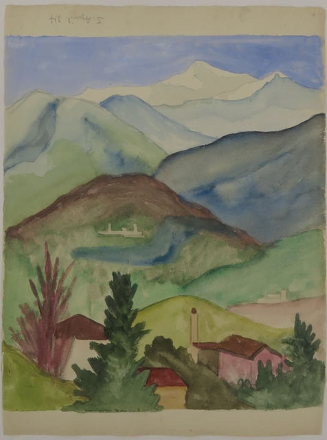 , 'Mountain landscape in Ticino,' 5, Galerie Thomas