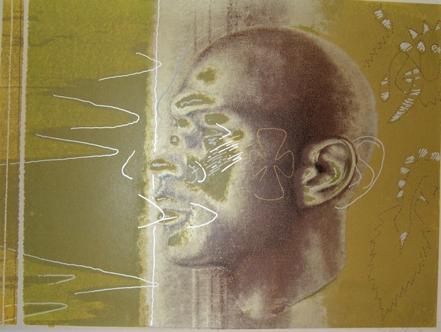 Ed Paschke, 'One on One (Portrait of Michael Jordan)', 1994, Drawing, Collage or other Work on Paper, Pastel, enamel marker and silkscreen, Contemporary Art and Editions