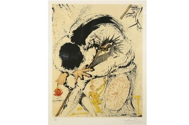 Salvador Dalí, 'Don Quixote - Overwhelmed', 1957, Leviton Fine Art