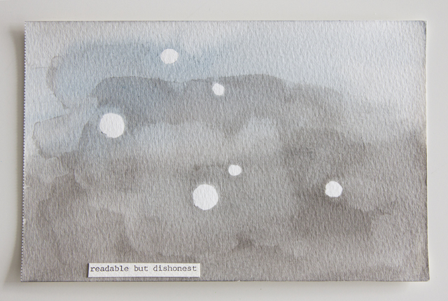 Jessica Rankin, 'Readable but Dishonest', 2014, Children's Museum of the Arts Auction 2014