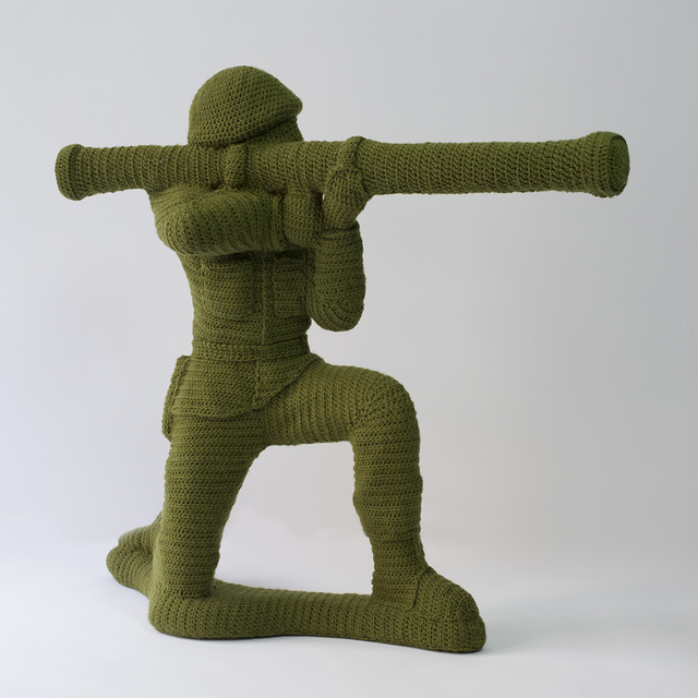 , 'Green Army Man,' 2015, Bellevue Arts Museum