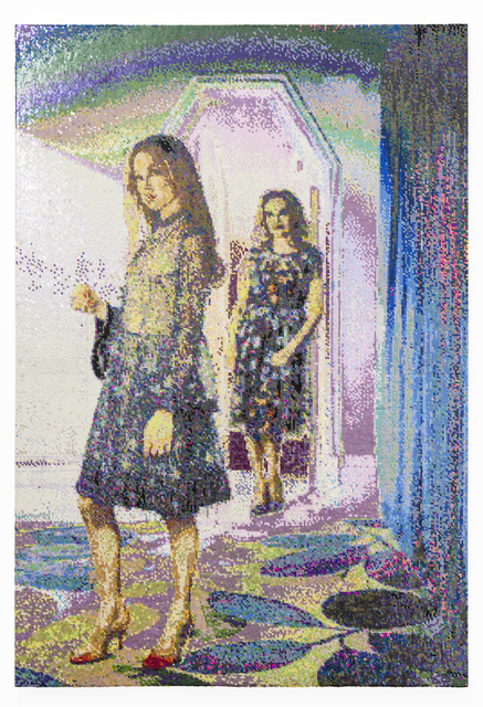 Frances Goodman, 'Looking Forwards/Looking Back', 2020, Mixed Media, Hand-Stitched Sequins on Canvas, SMAC