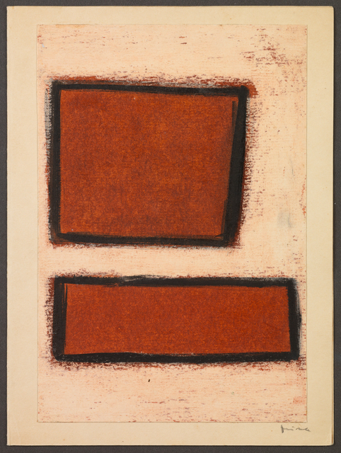, 'Untitled (Two red forms),' ca. 1960, The Mayor Gallery