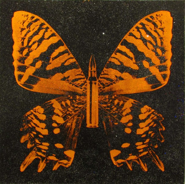 , 'Orange Butterfly on Black,' 2017, Taglialatella Galleries