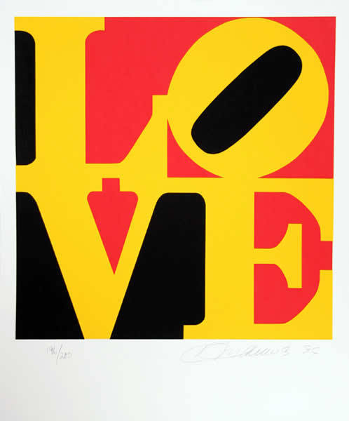 Robert Indiana, 'The Book of Love #9', 1991, Hamilton-Selway Fine Art Gallery Auction