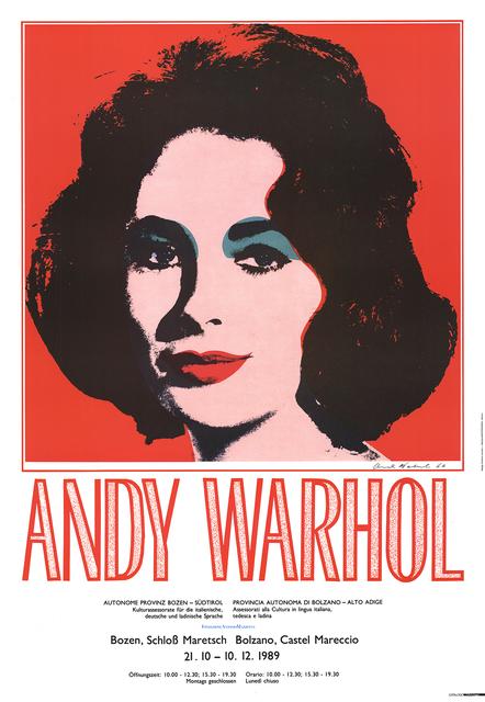 Andy Warhol, 'Liz Taylor', 1989, ArtWise