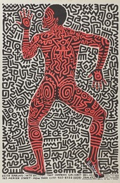 Keith Haring: Into 84 exhibition poster for Tony Shafrazi Gallery