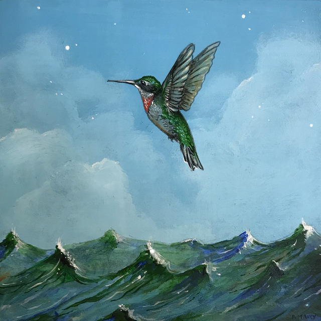 Patrick Maxcy, 'Ocean Flight', 2018, Painting, Acrylic on panel, Abend Gallery