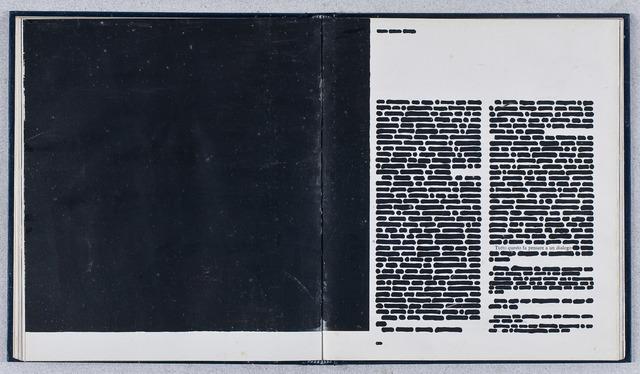 , 'Libro cancellato,' 1974, Erica Ravenna Fiorentini Arte Contemporanea
