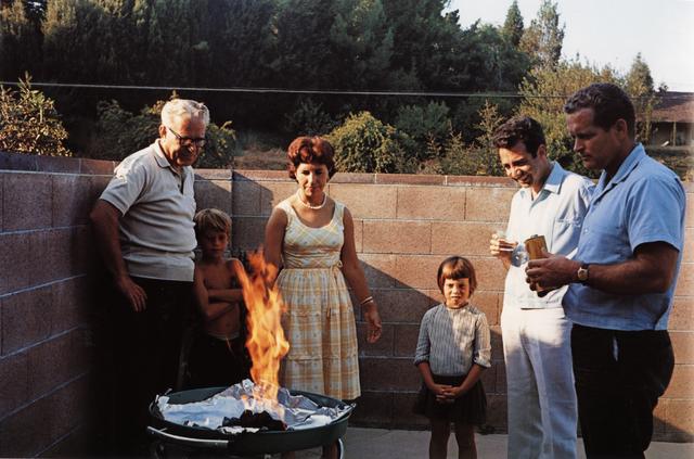 , 'Americans in Kodachrome 1945-65, Flaming Barbeque, Tarzana, California. Photographer: Andrea Katres,' 1965, ROSEGALLERY