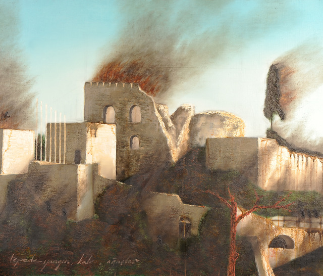, 'Fire, castle, trees on the hill,' 2013, The Empire Project