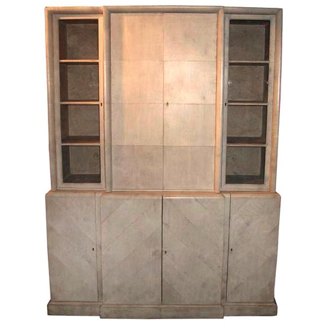 , 'Herringbone Parchment Cabinet,' Mid 20th Century, Galerie XX