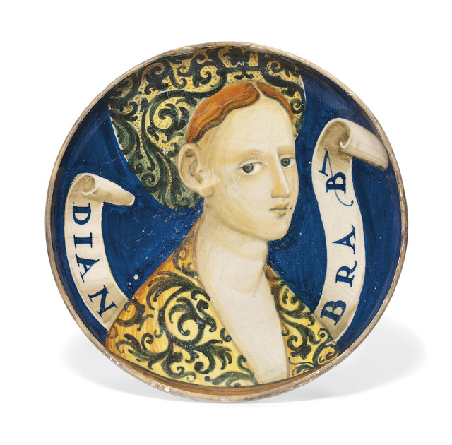 , 'An Italian Maiolica Bella Donna Footed Dish (Coppa),' ca. 1530-40, Christie's Old Masters