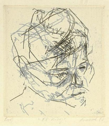 , 'R.B.Kitaj (From Six Etchings of Heads),' 1980, Osborne Samuel