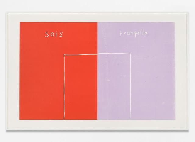 Andrea Büttner, 'Sois Tranquille', 19.001, David Kordansky Gallery