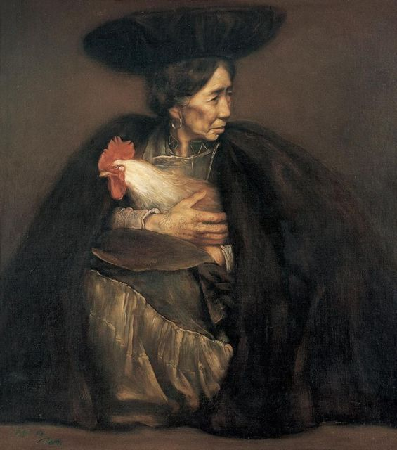 , 'Oil Woman and Her Pet,' 1988, K. Gallery