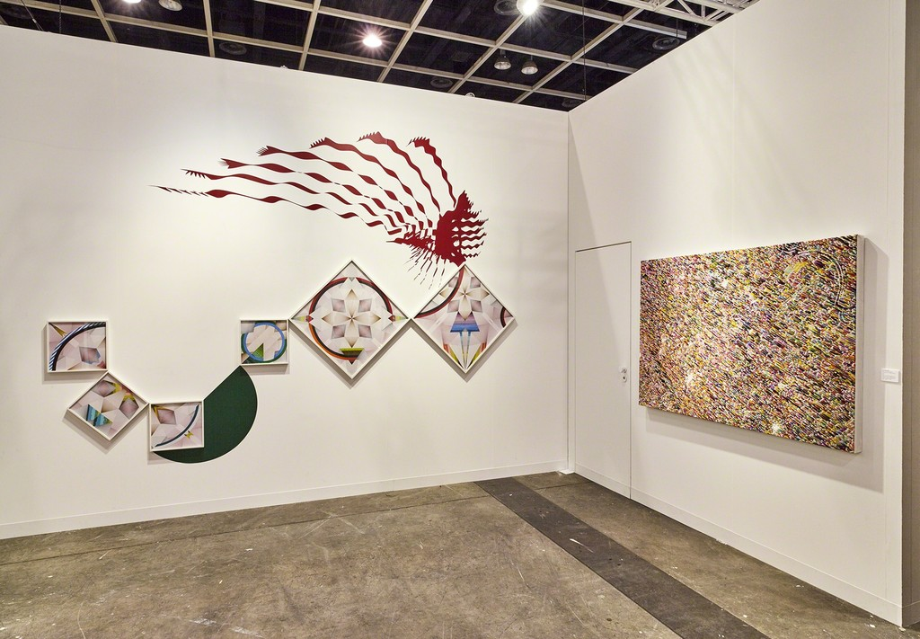 Kukje Gallery/Tina Kim Gallery Booth 1C12 installation view. Art Basel | Hong Kong, 2017. Photo by Jason Bonello. Image provided by Kukje Gallery