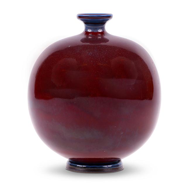 Berndt Friberg, 'Exquisite Vase Saturated in Burgundy Glaze', 1944, Gallery BAC