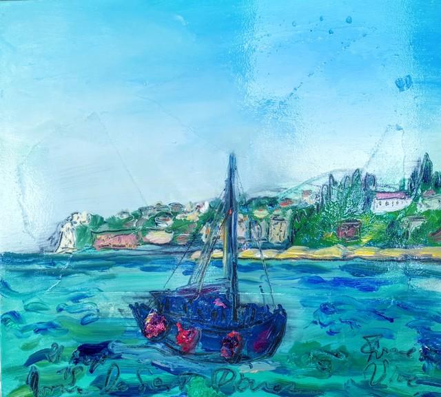 , 'Water paintings summer 2019 - plein air in situ paintings, boat - to the Bernardin,' 2019, Noravision Gallery