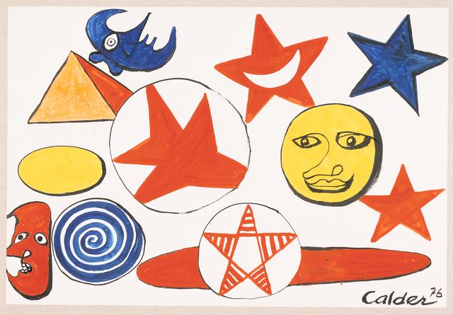 , 'Untitled (Sun, Moon and Stars),' 1976, Omer Tiroche Gallery