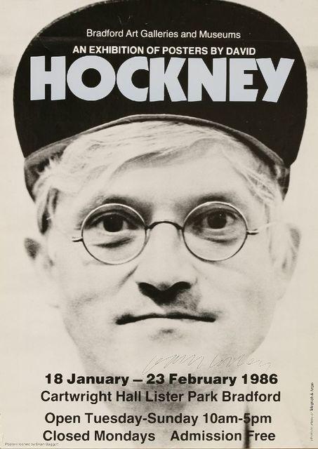 David Hockney, 'An Exhibition Of Posers By David Hockney (Bradford Art Galleries & Museums)', 1986, Sworders