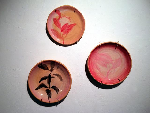 , 'Red Leaf, Pink Leaf, and Dark Leaf,' 2015, JAYJAY