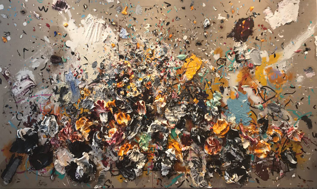 Ismael Lagares, 'OCHER XX', 2017, Aurora Vigil-Escalera Art Gallery