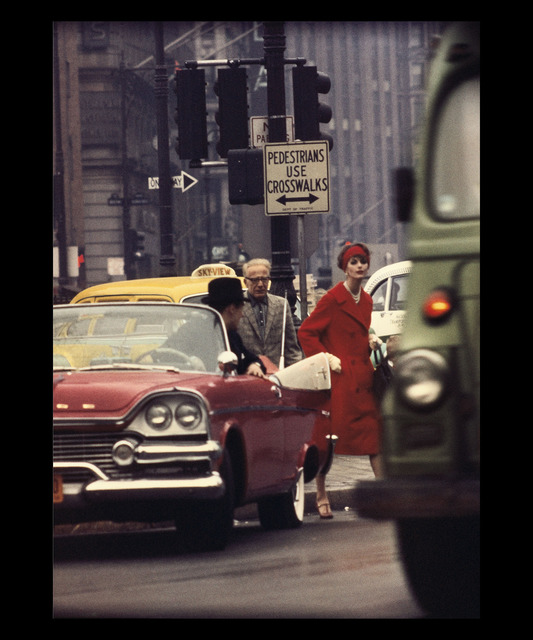 William Klein, 'Anne St-Marie + Cruiser in Traffic, New York (Vogue), Etats-Unis', 1962, Polka Galerie